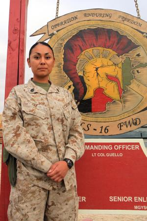 miramar marine and ex drill instructor shows her strength