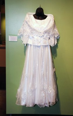 The debut gown for girls in the Philippines. On display at the &quot;Rites of Passage: Our Journeys Through Life&quot; exhibit.