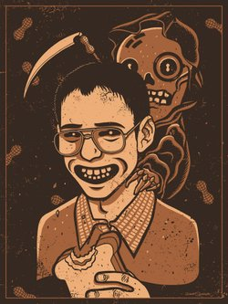 "A Bill Haverchuck ""Freaks and Geeks"" work as part of a Judd Apatow-inspired gallery show."