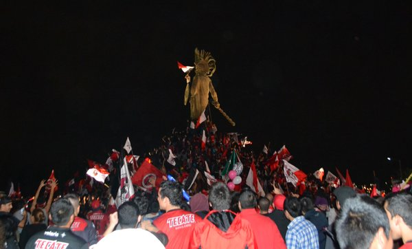 Xolos fans celebrate their team's first league championship in Tijuana.
