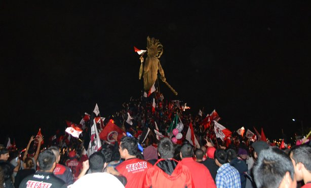 Xolos fans celebrate their team&#39;s first league championship in Tijuana.
