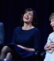 Hugh Bonneville, Elizabeth McGovern and Shirley MacLaine at TCA Press Tour. During PBS MASTERPIECE CLASSIC Downton Abbey,&quot; Season 3 session at the TCA Summer Press Tour in Los Angeles, Calif. on Saturday, July 21, 2012, MASTERPIECE executive producer Rebecca Eaton, creator, writer and executive producer Julian Fellowes, Michelle Dockery, executive producer Gareth Neame, Shirley MacLaine, Elizabeth McGovern, Hugh Bonneville, Joanne Froggatt and Brendan Coyle discuss the third season of the smash hit.