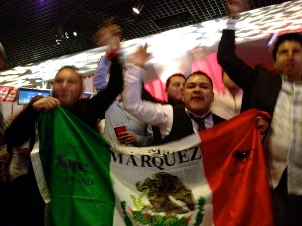 Fans of Juan Manuel Márquez showed their support of the boxing champ on Dec. 8 at the MGM Grand Garden Arena in Las Vegas.