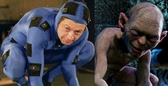 Andy Serkis as the ever-creepy and exciting Gollum in 'The Hobbit: An Unexpected Journey""