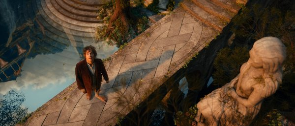 "Martin Freeman as the hobbit, Bilbo Baggins in ""The Hobbit: An Unexpected Journey"""