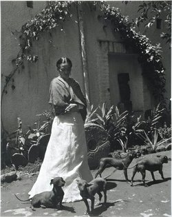 Frida Kahlo and Her Dogs