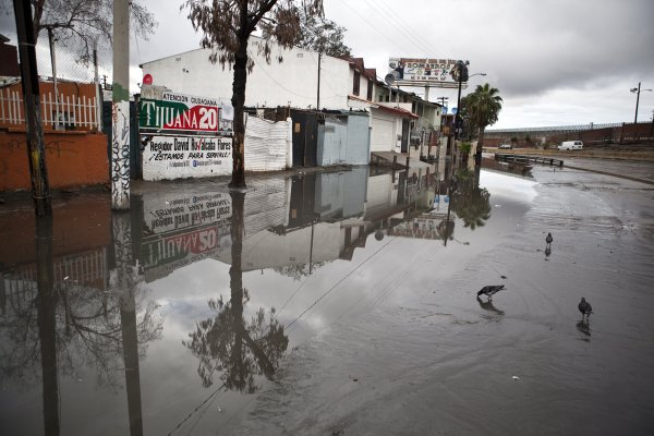 Flooding in Tijuana, December 13, 2012.