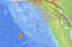 A large earthquake with a preliminary magnitude of 6.3 struck off the coast of San Diego on Friday, Dec. 14, 2012.