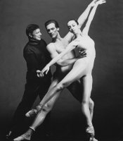 Gerald Arpino conducts a Joffrey Ballet rehearsal, circa 1980s.