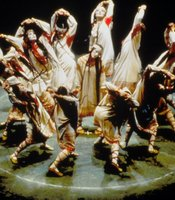A scene from the Joffrey Ballets revival of Vaslav Nijinskys Le Sacre du Printemps (The Rite of Spring)