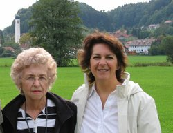 McBeth with her mother in Ronsberg, Germany. Ronsberg, where Mcbeth's mother was raised, is a small town in the Bavarian Alps. September 2004