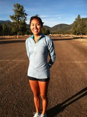 Alvina Begay, a Nike ambassador, trains in Flagstaff, Ariz.
