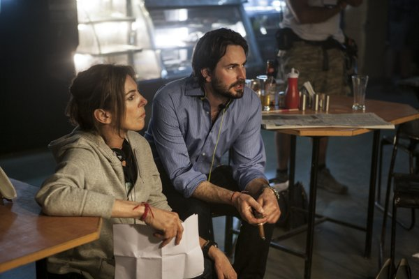 Director Kathryn Bigelow and writer Mark Boal.