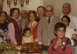 An Iranian American family at Thanksgiving in 1979.