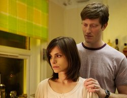 "Lucy Payne (Charlotte Riley) and Marcus Payne (Samuel Roukin) at home in ""Aftermath."""