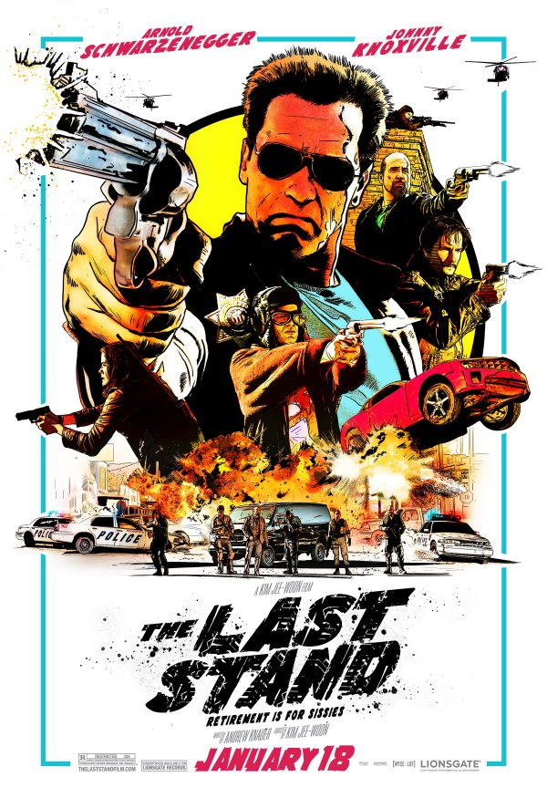 "The retro poster from New York Comic Con for ""The Last Stand."""