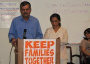Vasant Shetty speaks at the Arizona Dream Act Coalition on Jan. 25.