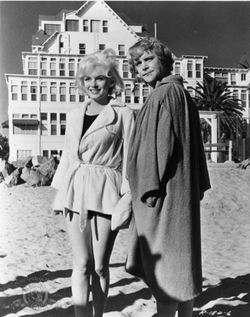 "Marilyn Monroe and Jack Lemmon in ""Some Like It Hot."""