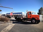 Coconino County sent its 5,000 gallon water tanker to the Navajo Nation to deliver water to people's homes.
