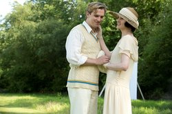Downton Abbey on MASTERPIECE on PBS.  From episode 6, season 3.  Shown from left to right: Dan Stevens as Matthew Crawley and Michelle Dockery as Lady Mary.