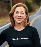 Kathrine Switzer, first woman to officially run in the once all-male Boston marathon, despite being attacked by a race official.