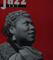 Sister Rosetta Tharpe on the cover of the French music magazine Jazz Hot in February 1958.