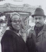 Sister Rosetta Tharpe with her third husband Russell Morrison in the late 1950s.