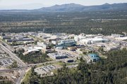 Aerial view of the Los Alamos National Laboratory in New Mexico.
