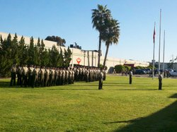 A ceremony at Marine Corps Air Station Miramar honoring the Tuskegee Airmen.