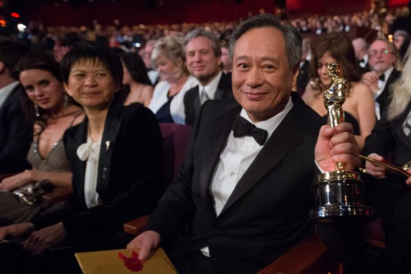 Best director winner Ang Lee.