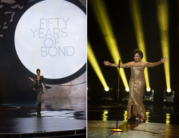 Halle Berry and Dame Shirley Bassey were on hand to pay tribute to 50 Years of Bond.