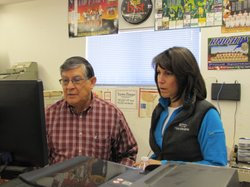 Richard Trujillo and his daughter Theresa Gonzalez run a family owned hardware store outside Las Cruces, New Mexico.