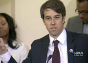 Texas Congressman Beto O'Rourke speaks during the congressional hearing on border security Tuesday.