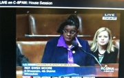 Rep. Gwen Moore (D-WI) spoke on the floor of the House Thursday morning.