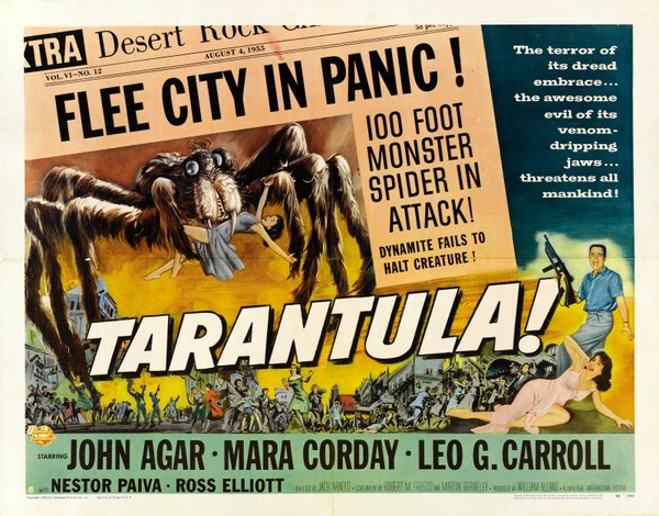 "Science goes wrong in ""Tarantula"" and a giant arachnid results."
