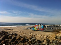 San Diego Surf Cuisine; Epic Eatz food truck on Carlsbad&#39;s Tamarack Beach.