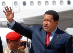Hugo Chavez in Guatemala in 2008.