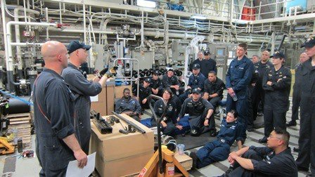 USS Freedom crew members on March 3, 2012.