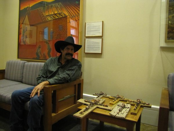 Ben Lopez is an artist from Los Lunas, N.M. He is one of many who sells his work at the state capitol in Santa Fe.