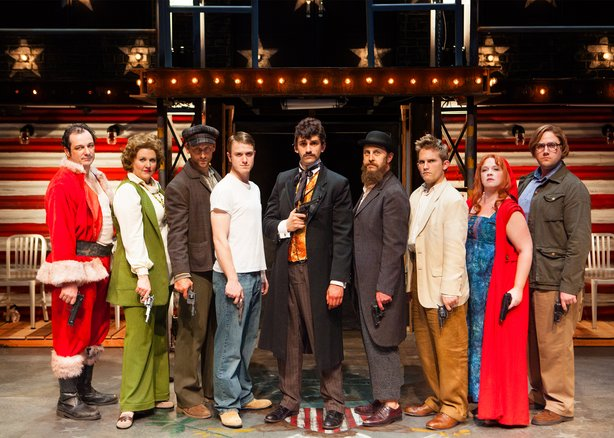 "The cast of ""Assassins,"" which opens this weekend at Old Town's Cynget Theatre."
