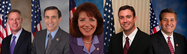 San Diego's congressional delegation (from left to right): Scott