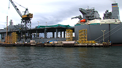 The USNS Lewis B. Puller, the third Mobile Landing Platform ship build by NASSCO, is in its final construction stage and scheduled to be completed in spring 2015.