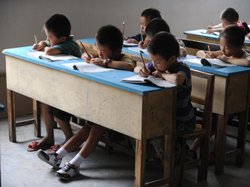Chinese schoolchildren during lessons at a classroom in Hefei, east China&#39;s Anhui province, in 2010.