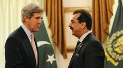 U.S. Sen. John Kerry (left), who was nominated Friday to be secretary of state, is shown shaking hands with Pakistani Prime Minister Yousuf Raza Gilani during a trip to Pakistan last year.