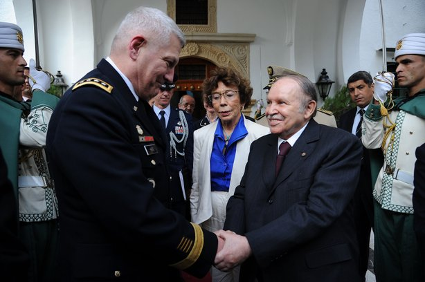 U.S. Gen. Carter Ham, who heads the U.S. Africa Command, meets with Algerian President Abdelaziz Bouteflika last September. Amid upheaval in the region, AFRICOM is still attempting to define its mission.
