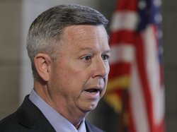 Nebraska Gov. Dave Heineman announced in Lincoln, Neb., on Thursday, Nov. 15, 2012, that his state will choose the federal health insurance exchange program.