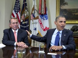 President Obama and House Speaker John Boehner at the White House on Nov. 16.