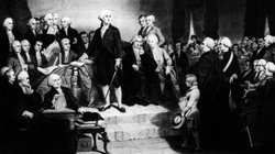 George Washington referred to &quot;that Almighty Being&quot; during his inaugural address in 1789. &quot;God&quot; didn&#39;t show up until more than three decades later.