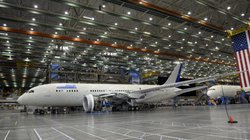 A Boeing Dreamliner is under construction inside a production facility at a Boeing plant in Everett, Wash., last year.