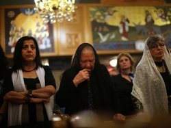 Egyptian Coptic Christians celebrate Christmas Nativity Liturgy, the start of Christmas, at the Coptic Orthodox Church of St. George in Brooklyn last January.